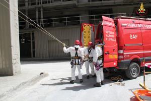Vigili del Fuoco Matera: Esercitazione presso Italcementi