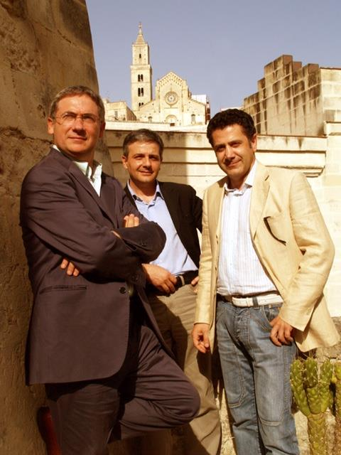 Da sinistra VitoGravela Traccia, Santino Lomurno HSH, Cosimo D´Ercole Innova