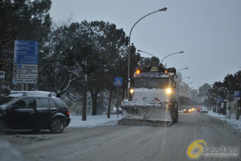 Neve a Matera - 6 gennaio 2017 (foto SassiLand)