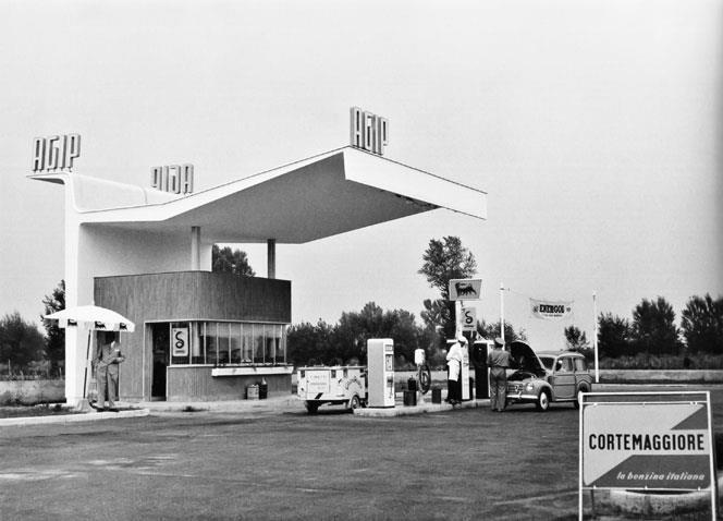 Stazione Agip di Cortemaggiore (Piacenza) – 1950
