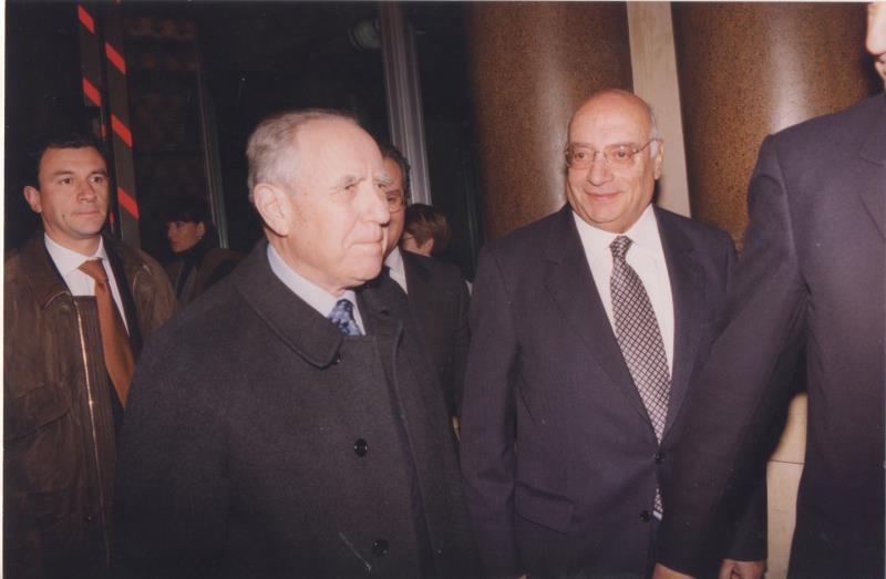 Carlo Azeglio Ciampi e Nicola Ielpo