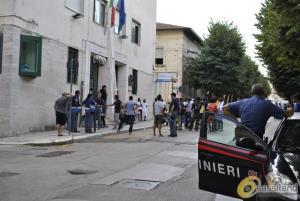 Protesta dei migranti a Matera - 27 agosto 2015